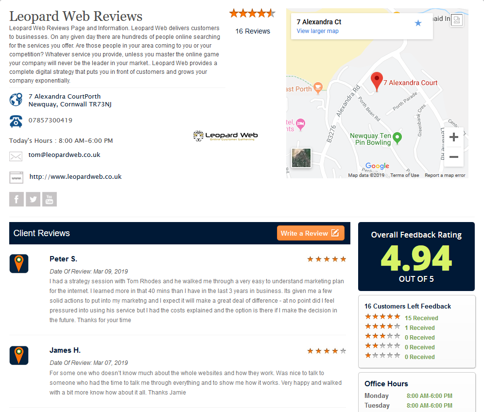 reviews web page picture 1